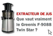 Test de l'extracteur de jus Greenis F-9088 Twin Star
